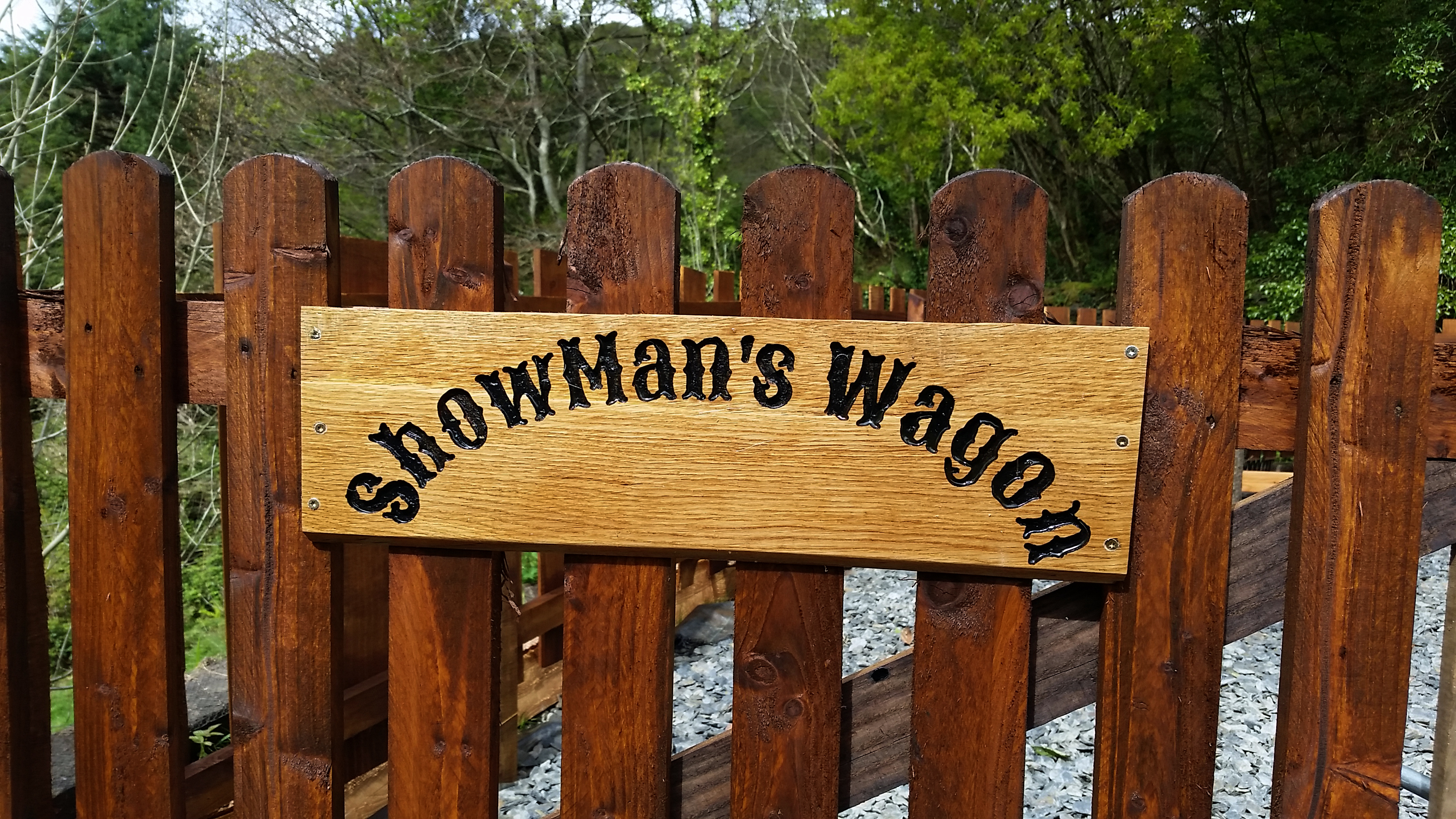 The sign on the gate